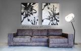 [هندمد] سوداء وبيضاء [تر برنش] نوع خيش جدار فنية لأنّ زخرفة بيتيّة