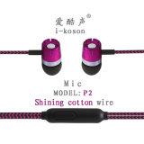 Le logo OEM Ikson microphone des écouteurs de conception