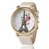 2016年は最近豪華な女性の服の腕時計5カラー女性高品質PU革バンド腕時計を設計する