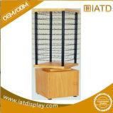 Хлопните вверх деревянный шкаф комиков индикации засыхания одежды вешалки одежд хранения магазина стеклянный