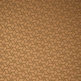 包装袋の装飾のための無光沢の浮彫りにされた幾何学的なPUの革