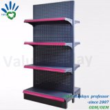 Blind Fixture Punched Holes Supermarket Display Shelf Rack