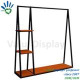 Kleid-Bildschirmanzeige-Zahnstangen-Speicher-Fach-Vorrichtungen des Metall+Wood für Einzelhandelsgeschäfte
