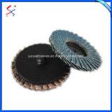 Volet abrasif de meulage montés sur roues pour l'acier et bois