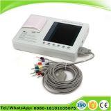 3 canaux ECG EKG moniteur électrocardiographe machine 7 pouces 12 plomb -Candice