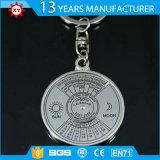 Calendario perpetuo Keychain del metallo del rifornimento della fabbrica di Keychain