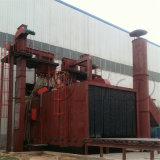 車輪のショットブラスト機械を通した鋼板ローラーコンベヤー