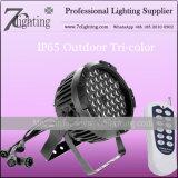 HOCHZEITS-Beleuchtung-Gerät der NENNWERT TRI-LED Beleuchtung-54X3w RGB Fern