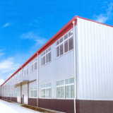 Estructura de acero prefabricados panel sándwich de taller de almacén