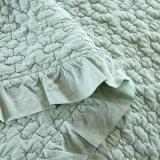 단단한 면에 의하여 누비질되는 여왕 및 특대 침대 덮개 세트