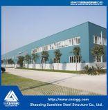 Edificio prefabricado del taller de la estructura de acero con el material de acero ligero