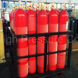ISO9809 Стандарт 46.7L Стальной цилиндр с F-4 клапана и крышки
