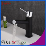 Fyeer Black Contemorary Single Lever Handle Brass Basin Faucet