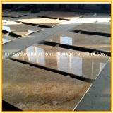 Azulejos de granito dourado dourado dourado / dourado polido para piso, parede