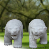 un par de escultura de la estatua del oso, escultura animal