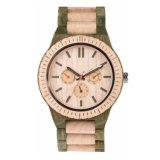 Reloj de madera natural puro del nuevo reloj de la nuez del OEM