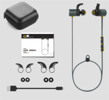 Movimento montado dobro da orelha que funciona auriculares impermeáveis de Bluetooth da sução magnética