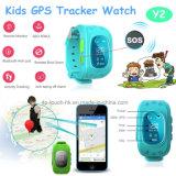 Montre chaude de traqueur des gosses GPS de localisation en temps réel de la vente GPRS (Y2)