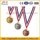 Médaille en alliage de zinc personnalisée de sport de récompense de souvenir avec la bande