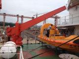 Gru per barche degli apparecchi di lancio della lancia di salvataggio del Singolo-Braccio/lancia di salvataggio