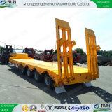 Gooseneck van het Vervoer van het Graafwerktuig van de Apparatuur van Shengrun Aanhangwagen van de Vrachtwagen van Lowbed van het Bed van Lowboy de Lage
