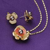 優雅な方法水晶ビードの真珠の宝石類セット