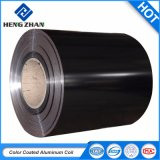 PE/PVDFカラーコーティングPrepaintedアルミニウムコイルは、黒い上塗を施してある売買する