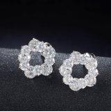De Oorring van de Juwelen van de Nagel van de Hoepel van het Kristal van CZ van het Witgoud van de manier