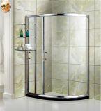 Cabine en aluminium de douche de porte de douche de bâti terminée par secteur d'intérieur de salle de bains