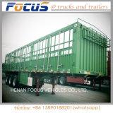 Bétail de constructeur de la Chine, canne à sucre, transport de cargaison en bloc de 60 tonnes de frontière de sécurité remorque semi