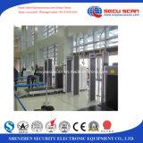 Caminata del metal de la prueba del tiempo a través del detector para el acontecimiento, aeropuerto, pasillo constructivo