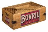Caixa Vintage Bovril adorável Engradado de armazenamento de madeira rústica Publicidade Retro Dom
