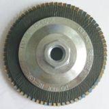 Roda de aba de disco abrasivo de óxido de alumínio com eixo de 3 mm