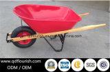 木のハンドルの手押し車の一輪車のトロリーカートWh5400