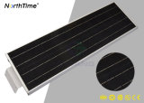 Luz de rua completa Solar-Psta do diodo emissor de luz de Light&Time controle esperto