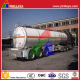 3 de l'essieu 30-55cbm de pétrole brut de réservoir de carburant remorque lourde semi