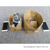 Lavable bolsa de papel marrón. Grandes o pequeñas bolsas de papel Kraft lavable