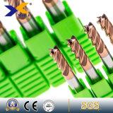OEM HRC45/55/60/65の高い硬度の固体炭化物35度の正方形の平らな端製造所