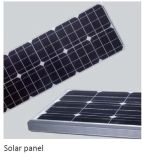10W - 50W الطاقة الشمسية ضوء الشارع دمج مع LG LED رقائق و الجسم الأشعة تحت الحمراء الاستشعار / ميكروويف التعريفي