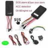 Rastreador de veículo GPS com monitor de voz e alarme de Sos T100