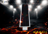 Smartphone $$etAPP contrôlant le réverbère solaire complet de 40W DEL