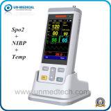 Oxymètre tenu dans la main de pouls avec l'USB : SpO2, NIBP&Temp