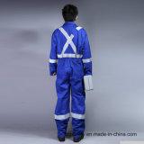 100% Coton Proban Flame Retardant Vêtements de protection de sécurité avec ruban réfléchissant