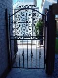 Estilo elegante, puertas de aluminio para jardín