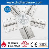 Dobradiça dos Ss da ferragem da porta do canto redondo com certificado do UL (DDSS047)