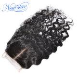 Chiusura centrale ondulata allentata brasiliana del merletto dei capelli del Virgin della parte