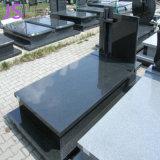 Ultra haute qualité pierre tombale de granit noir pur sans colorants
