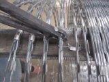 Alambre de púas cubierto o galvanizado del PVC de la maquinilla de afeitar