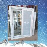 Finestra di scivolamento americana di vetro UPVC di gelo di stile