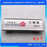 Nom du matériau aluminium réutilisables Insigne Insigne de nom avec le nom d'insérer
